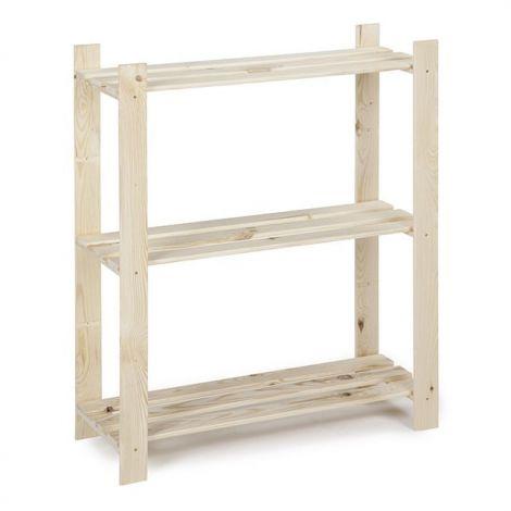 Holzlagerregal einzeln 15kg 3 Fächer - schmal