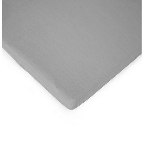 Spannbetttuch für Laufgitter 75x95cm - grau