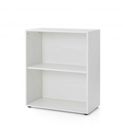 Serie Maxi-Office, Regal breit mit 2 Fächern - Weiß Dekor