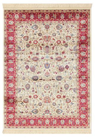 Teppich Bizantine Elfenbein 140x70 Arabisch - Rot Elfenbein