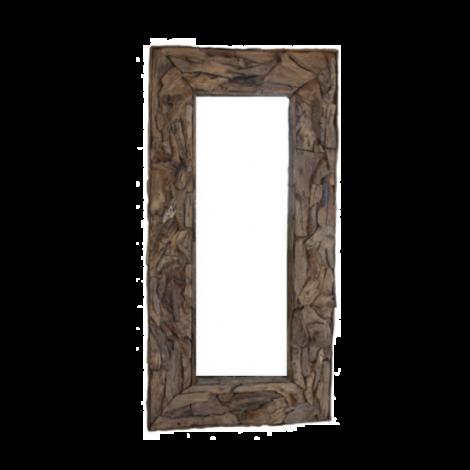 Wandspiegel Root 220x120cm Teak/Wurzelholz