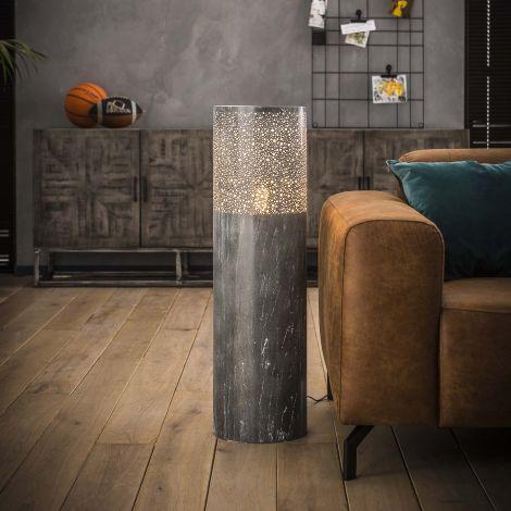 Stehleuchte Sillo 25cm Zylinder H90cm - grau
