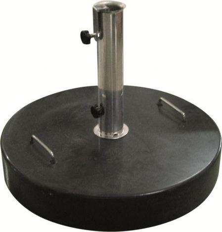 Runder Sonnenschirmständer aus Granit - 40 kg