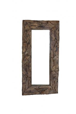 Wandspiegel Root - 200x100 cm - Teakwurzelholz