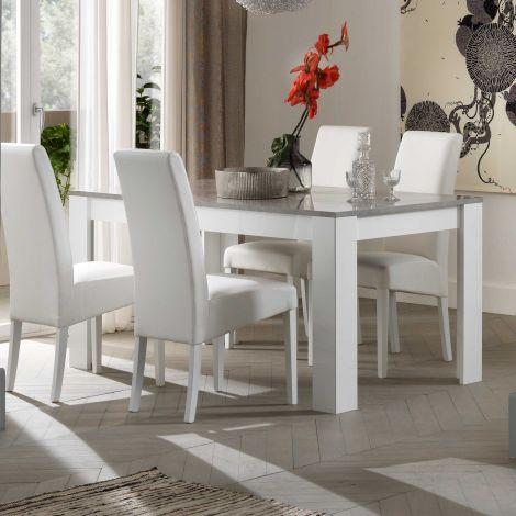 Esstisch Modena 160 cm - Weiß/Beton
