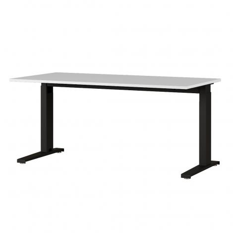 Schreibtisch Osmond 160cm mechanisch verstellbar - hellgrau/schwarz