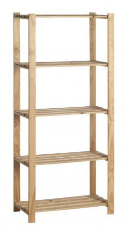 Holzlagerregal einzeln