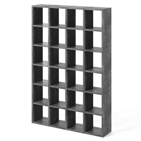 Pombal Bücherregal 24 Fächer - Beton