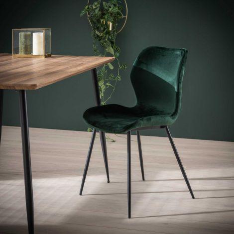 Satz von 4 Stühlen Vince - grün