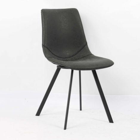 Satz von 2 Stühlen Norway - schwarz