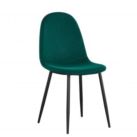Satz von 4 Stühlen Jo samt - grün