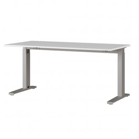 Schreibtisch Osmond 160cm mechanisch verstellbar - hellgrau/silber