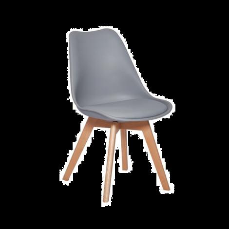 Satz von 4 Stühlen Malmo - grau