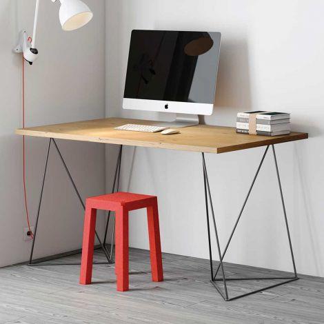 Desk Flo - Wildeiche / schwarze Beine