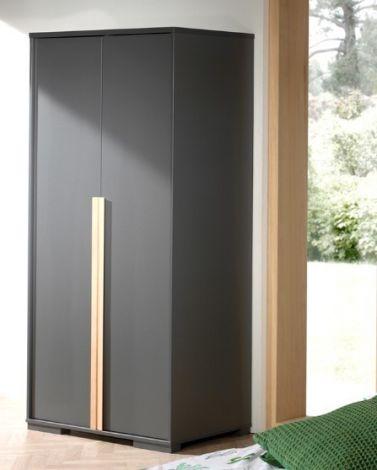 Kleiderschrank London 98cm mit 2 Türen - anthrazit
