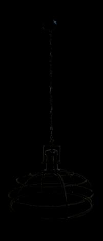Hängelampe Krone - ø60 cm - pulverbeschichtet schwarz