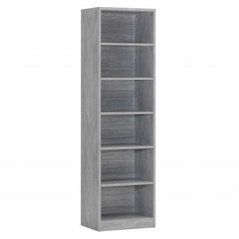 Bücherschrank Spacio 55cm mit 5 Einlegeböden - Eiche grau