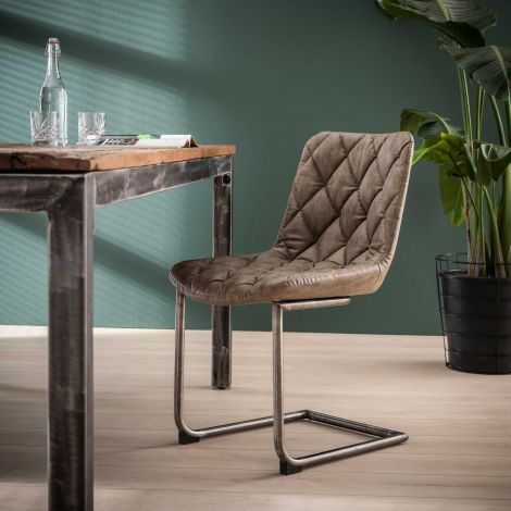Stuhl Raster Schwenkrahmen - Set von 2 - Wax PU Taupe