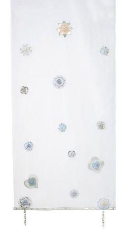 Vorhang für Hüttenbett Silversparkle