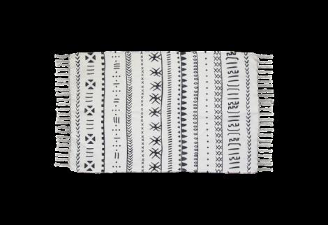 Teppich Boha B 210x150 Baumwolle schwarz/weiss