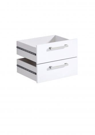 2 Schubladen Gabi - Hochglanz weiß