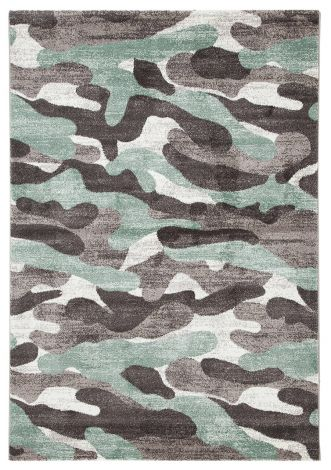 Teppich Camouflage 170x120 Kinder - Grün