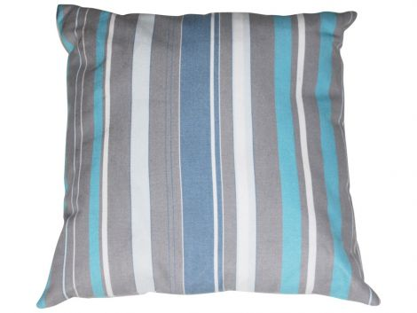 Kissen 40x40 - blau/grau