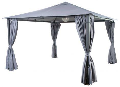 Gartenpavillon Chios 350x350cm - anthrazitfarben