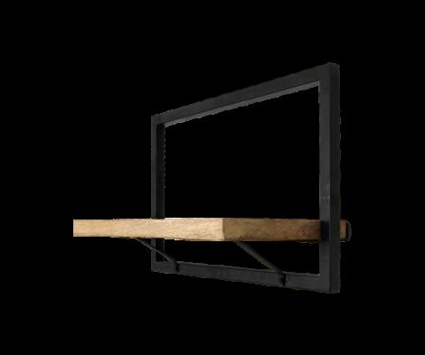 Wandregal Levels 51x32cm Mango-Holz/Eisen