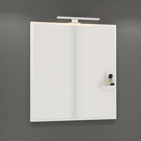 Spiegel Hansen 60cm mit Beleuchtung - weiß