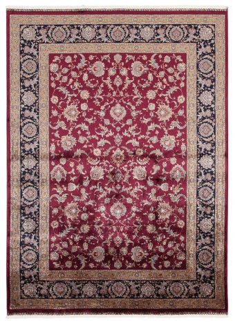 Teppich Qoum Shah 2 Burgund 150x80