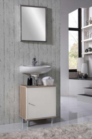 Waschtischunterschrank Rowan - weiß/Eiche