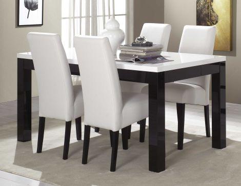 Esstisch Roma 160 cm - schwarz/weiß