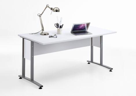 Schreibtisch Gabi 160cm - Hochglanz weiß