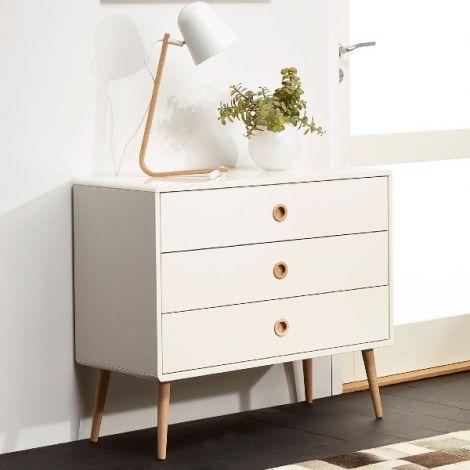 Dresser SOFT LINE 015 - Dresser with 3 drawers - WHITE