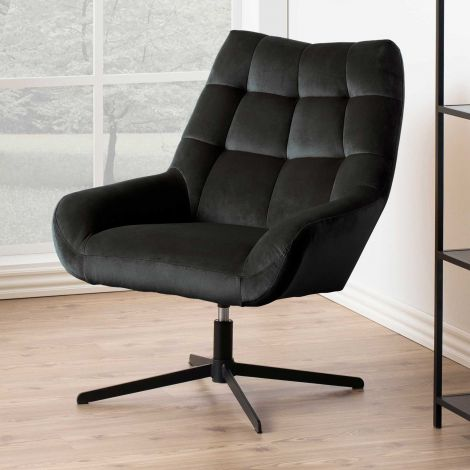 Paris swivel chair - black, grey brown