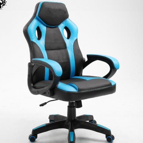 Gaming-Stuhl Matt - hellblau/schwarz