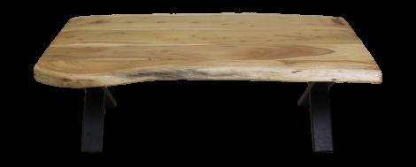 Couchtisch SoHo - 120 cm - Akazie / Eisen - pulverbeschichtet schwarz