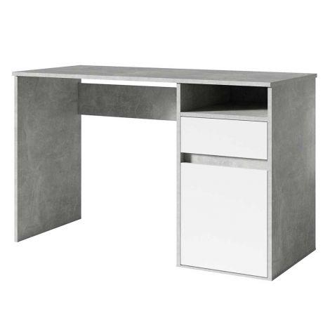 Schreibtisch Soma 120 cm Beton-Optik/Weiß