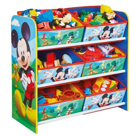 Regal mit 6 Boxen - Micky Maus