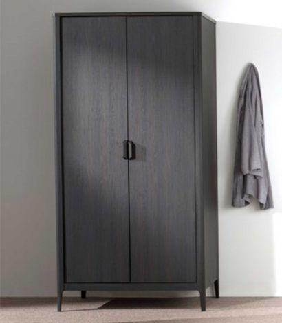 Kommode Azalea 100cm mit 2 Türen - braun/schwarz
