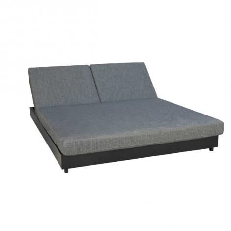 Doppelbett Ciro - schwarz/grau