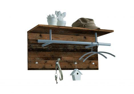 Garderobenständer Spot - verwittertes Holz